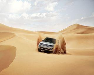 Обои на телефон ровер, пустыня, песок, пейзаж, safari, land rover, discovery