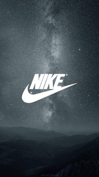 Обои на телефон просто, найк, минимализм, логотипы, звезды, галактика, бренды, nike stars, galaxy, do, air