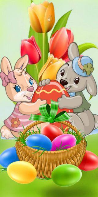 Обои на телефон яйца, счастливые, пасхальные, весна, 1440x2880px