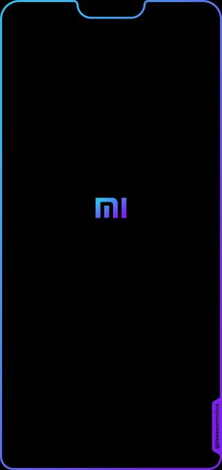 Обои на телефон сяоми, синие, светящиеся, облегченные, ми, выемка, аврора, xiaomi, mrjonygomez, mi 8 lite, likeawormvirus, aurora blue