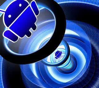 Обои на телефон андроид, android, 3д, 3d android, 2160x1920