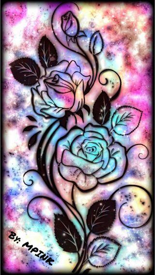 Обои на телефон цветы, радуга, красочные, rainbow flowery