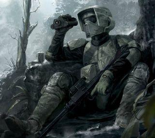 Обои на телефон штурмовик, звездные войны, звезда, войны, star wars, scout trooper, endor