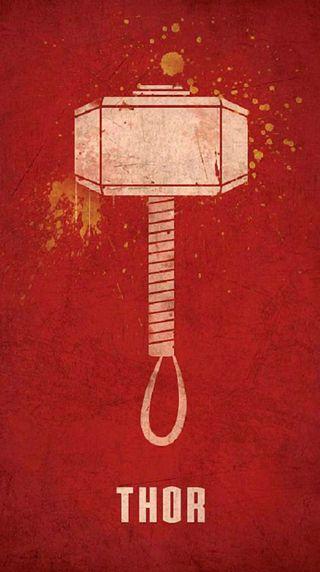 Обои на телефон постер, тор, супер, мстители, молот, лучшие, крутые, красые, герой, thor - hammer