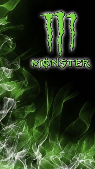 Обои на телефон энергетики, пламя, огонь, гонка, зеленые, monster flame, monster