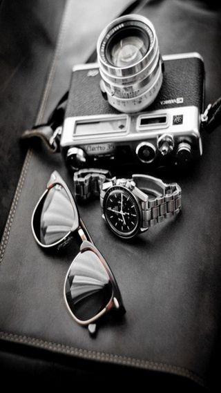 Обои на телефон часы, стиль, солнечные очки, камера, tools