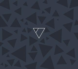 Обои на телефон треугольники, черные, тени, белые