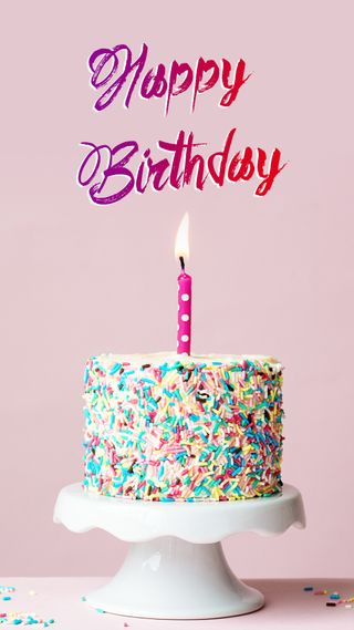 Обои на телефон день рождения, фиолетовые, торт, счастливые, свечи, свеча, свет, soon