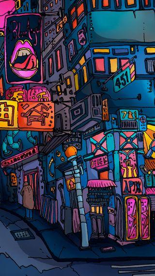 Обои на телефон art, wallet city, арт, город, граффити