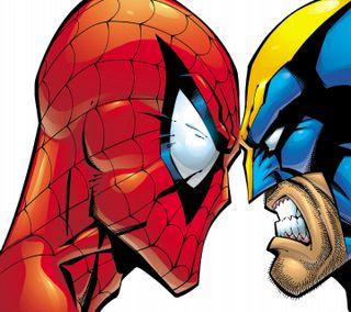 Обои на телефон росомаха, паук, марвел, spider man, marvel