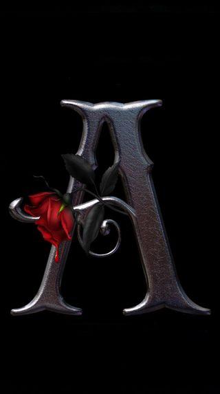 Обои на телефон буквы, розы, letter a rose, fgdf