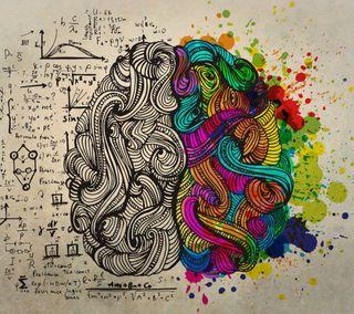 Обои на телефон слева, наука, мозг, креативные, left right brain