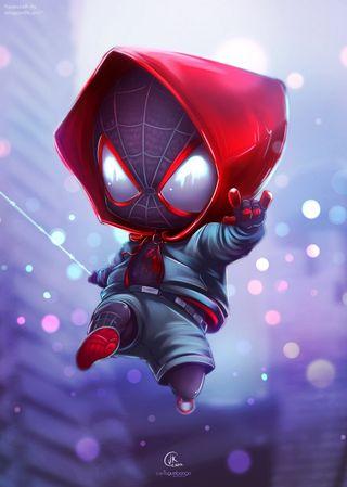 Обои на телефон чиби, человек паук, милые, spiderchibi