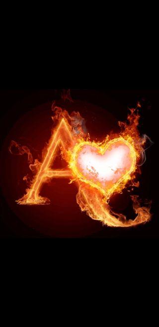 Обои на телефон буквы, сердце, огонь, любовь, love
