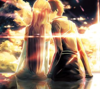 Обои на телефон обнимать, удивительные, сердце, романтика, поцелуй, любовь, аниме, love