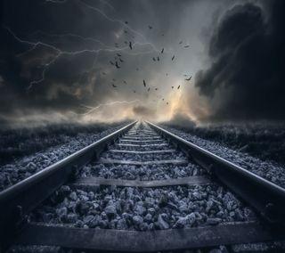 Обои на телефон железная дорога