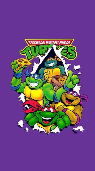 Обои на телефон черепахи, пицца, ниндзя