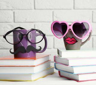 Обои на телефон чашка, очки, милые, забавные, funny cups, cup