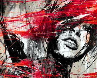 Обои на телефон женщина, рисунки, набросок, лицо, красые, арт, art