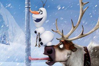 Обои на телефон холодное, снеговик, снег, свен, олаф, мультфильмы, зима, snowmman