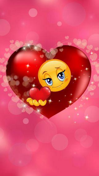 Обои на телефон смайлик, сердце, любовь, день, love, 1080x1920px