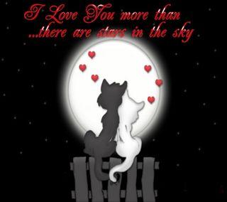 Обои на телефон любовники, ты, сердце, мультфильмы, милые, любовь, луна, высказывания, love you more, love, i love you