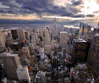 Обои на телефон сша, серые, облака, новый, небоскребы, йорк, город, usa, ny, i luv ny