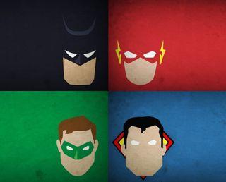 Обои на телефон фонарь, флэш, супермен, супергерои, зеленые, герои, бэтмен, dc