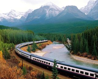 Обои на телефон поезда, природа