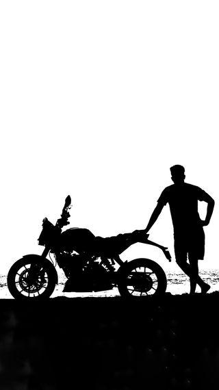 Обои на телефон черные, мотоциклы, монохромные, белые, байк, monochrome duke, duke, 200