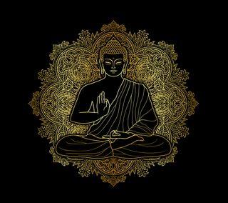 Обои на телефон золотые, будда