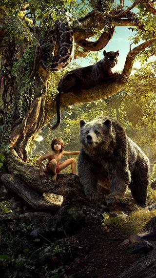 Обои на телефон змея, фильмы, природа, пантера, медведь, мальчик, книга, джунгли, аниме, mougly