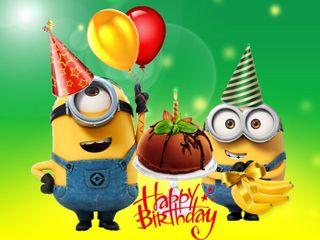 Обои на телефон день рождения, счастливые, мультики, миньоны, minions birthday, 640x480px