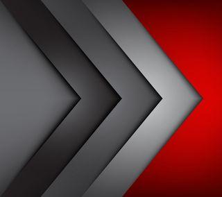 Обои на телефон геометрия, тень, темные, стрела, серые, простые, минимализм, красые, geometry red