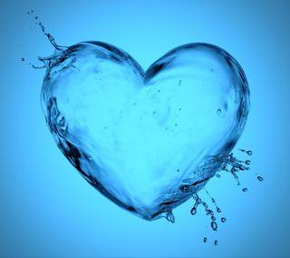 Обои на телефон брызги, синие, сердце, любовь, лед, капли, вода, аква, love, aqua heart