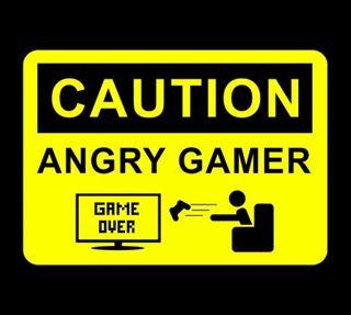 Обои на телефон осторожно, злые, игра, геймер, hd