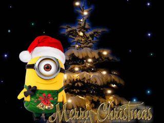 Обои на телефон счастливое, рождество, ночь, миньоны, night christmas