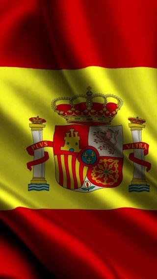 Обои на телефон испания, флаг