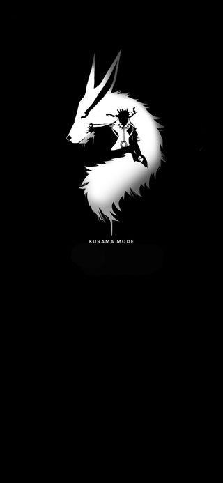Обои на телефон иллюстрации, черные, темные, наруто, курама, белые, арт, аниме, sage mode, ninetails, naruto kurama mode, art
