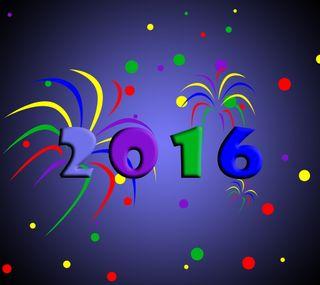 Обои на телефон год, цветные, счастливые, новый, happy 2016, 2016