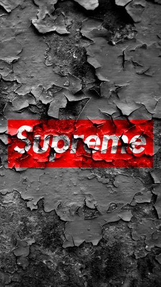 Обои на телефон граффити, стена, старые, серые, логотипы, красые, бренды, supreme, rust