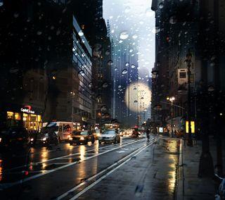 Обои на телефон крутые, новый, город, дождь, америка, погода, нью йорк, йорк, улицы