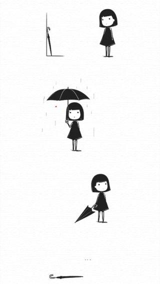 Обои на телефон амбрелла, правда, забавные, дождь