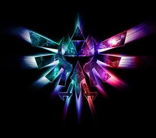 Обои на телефон зельда, символ, новый, неоновые, логотипы, крутые, красочные, игры, дизайн