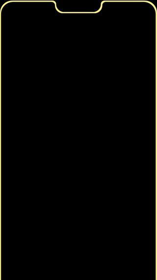 Обои на телефон выемка, эпл, желтые, грани, notch yellow, edge notch, apple