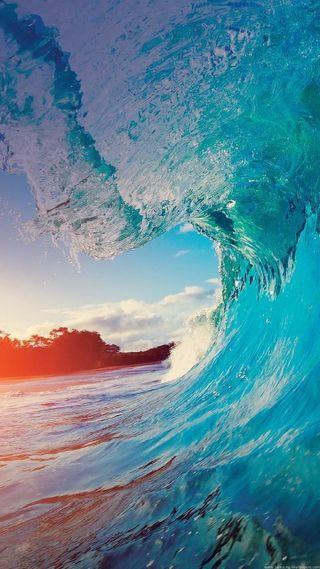Обои на телефон солнце, океан, море, лето, волна