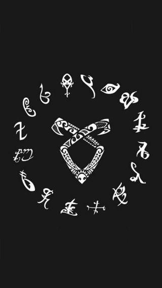 Обои на телефон тень, черные, свобода, охотник, знаки, загрузка, белые, shadowhunters, hunters