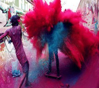 Обои на телефон фестиваль, цвета, холи, счастливые, милые, индия, happy holi