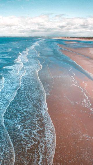 Обои на телефон море, вода, i am