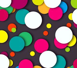 Обои на телефон шары, цветные, круги, 3д, 3d